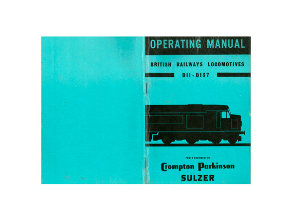 operating manual british railways locomotives d11 – d137, brush electrical  engineering